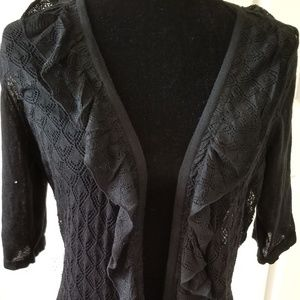 Womens Lacy Look Sweater By Covington Size XL